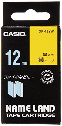 カシオ ラベルライター ネームランド テープ 12mm XR-12YW 黄