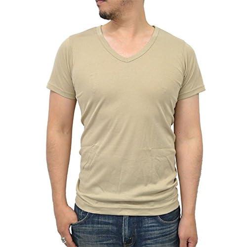 (ヘインズ) Hanes 吸汗速乾 ビズ魂 パック入り 2枚組み Vネック 半袖 Tシャツ メンズ M ベージュ