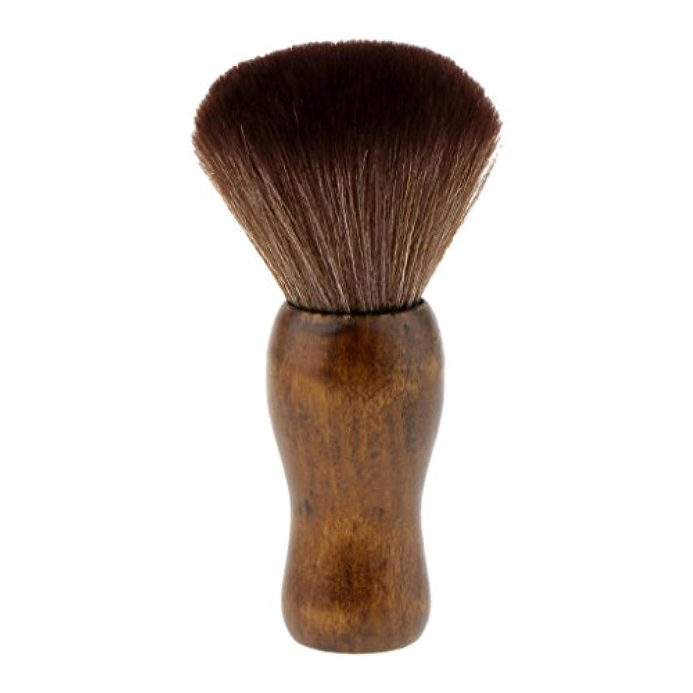 手荷物祈る派手Homyl シェービングブラシ シェービング 洗顔 ブラシ メイクブラシ ソフト 快適 シェービングツール 2色選べる - 褐色