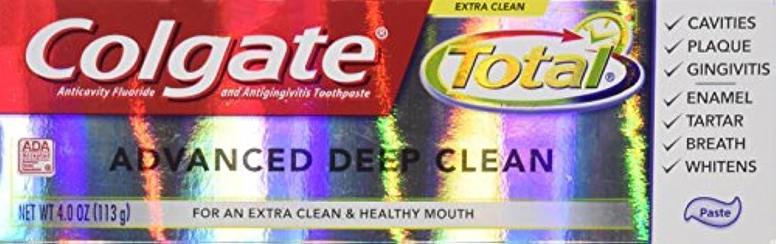 怒っている保護マウントColgate 総高度なフッ化物の歯磨き粉、ディープクリーン4オンス