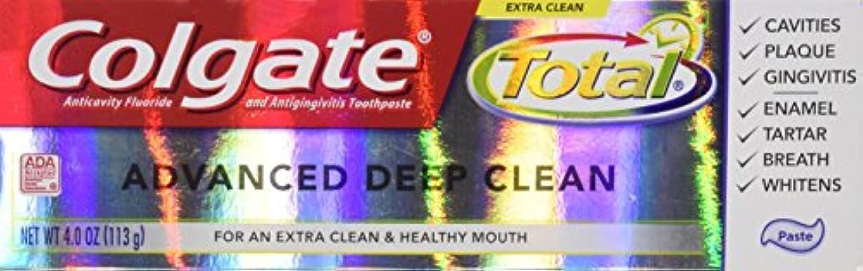 ワイド鑑定クラウドColgate 総高度なフッ化物の歯磨き粉、ディープクリーン4オンス