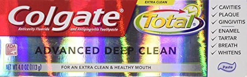 溢れんばかりの販売計画ディスカウントColgate 総高度なフッ化物の歯磨き粉、ディープクリーン4オンス