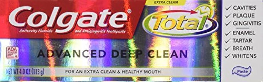 好き収束する繰り返しColgate 総高度なフッ化物の歯磨き粉、ディープクリーン4オンス