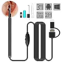耳かき カメラ AISITIN 電子耳鏡 USB 内視鏡 耳掃除 3in1 Android/Windows/Mac 対応 OTG機能 720P HDカメラ LEDライト 6個ledライト付き 調節可能 耳のカメラ 多用途 家庭用