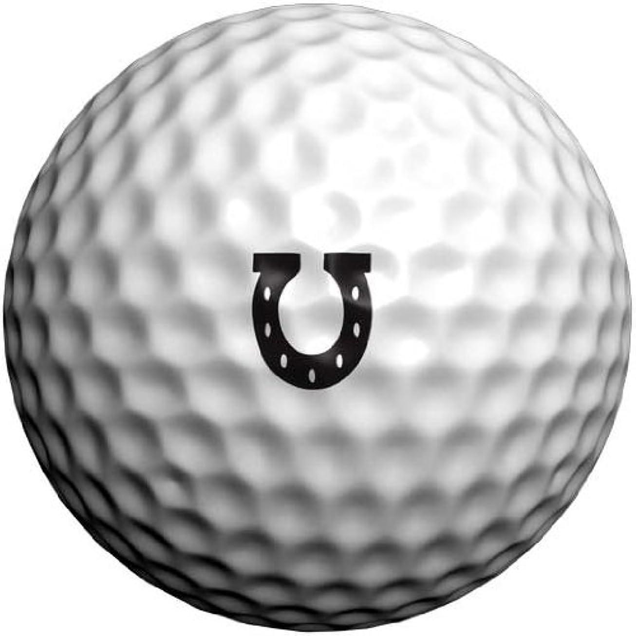 乗り出すイソギンチャク幾何学ゴルフボール用転写シール 幸運の蹄鉄