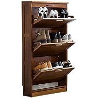 靴キャビネット竹の現代のポーチ靴のキャビネット20cmの薄い大容量の防塵ダンプドアのドアの靴