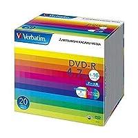 三菱ケミカルメディア/DVD-R / 4.7GB / PCデータ用 / 1-16倍速 / 20枚スリムケース入り / ワイド印刷可能 / DHR47JP20V1