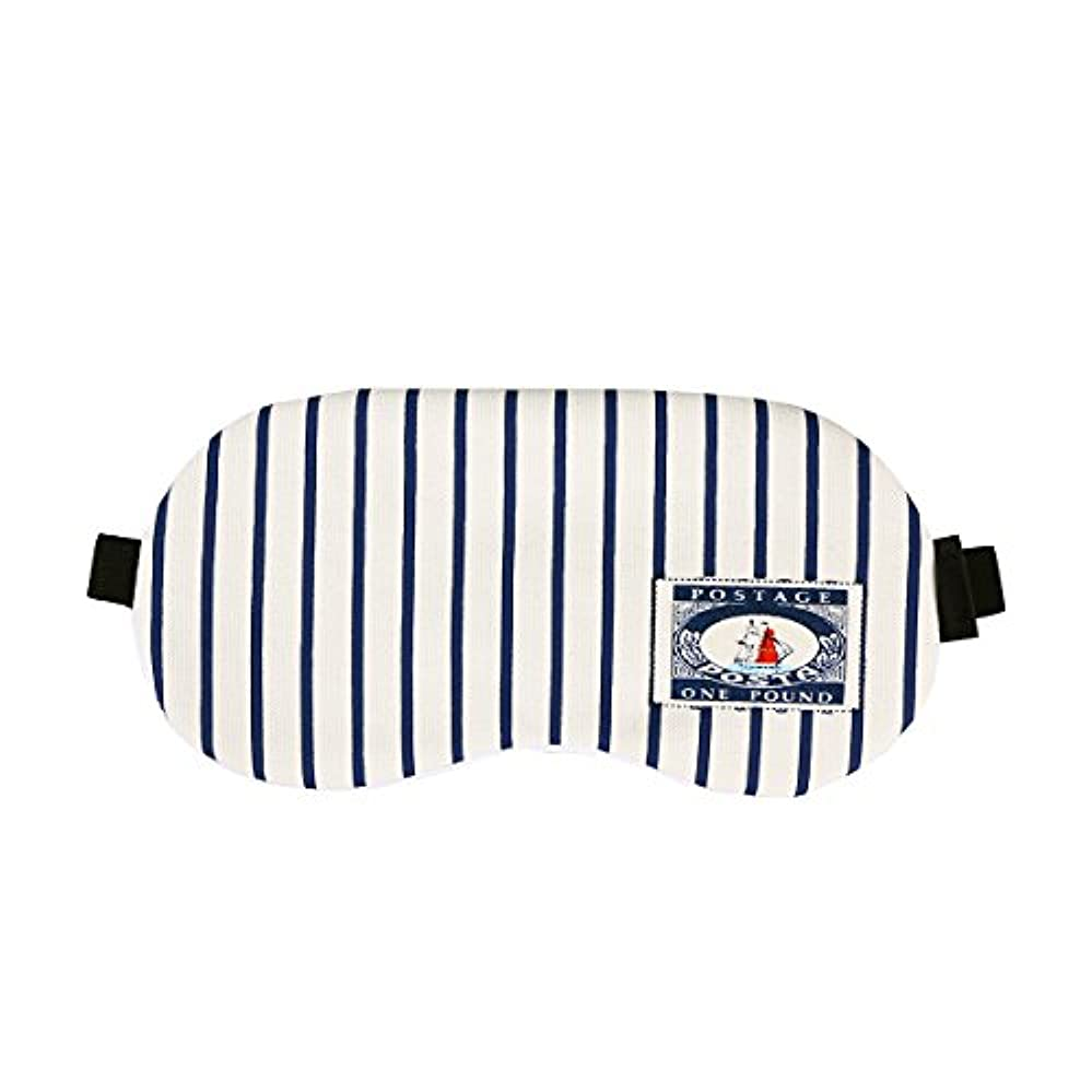 カウント聴覚慢なHEALLILY コットンアイスリーピングマスクかわいいアイマスクレストスリーピングマスクアイパッチ目隠し旅行用Sleeping Aid(ストライプ)