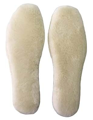 あったか 極厚インソール 天然羊毛 女性用 男性用 中敷き 【 サイズが選べます 】 ふわふわ もこもこ 防寒 保温 冷え性解消 ブーツに最適! emu UGG 等にもお勧め (35)