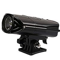 ULT-unite JP 自転車ヘッドライト 自転車前照灯 IP65 防水 ヘッドライト 懐中電灯 高輝度白色LEDライト 小型 LED懐中電灯 強/弱/フラッシュ3モード 簡単取り付け
