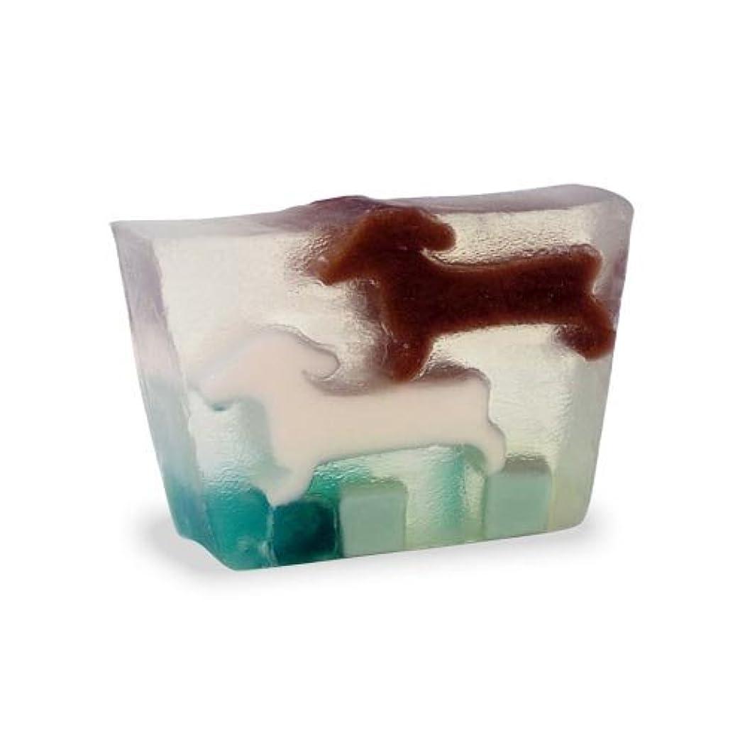 ひねくれたヘッジ刺繍プライモールエレメンツ アロマティック ミニソープ ダックスフンド 80g 植物性 ナチュラル 石鹸 無添加