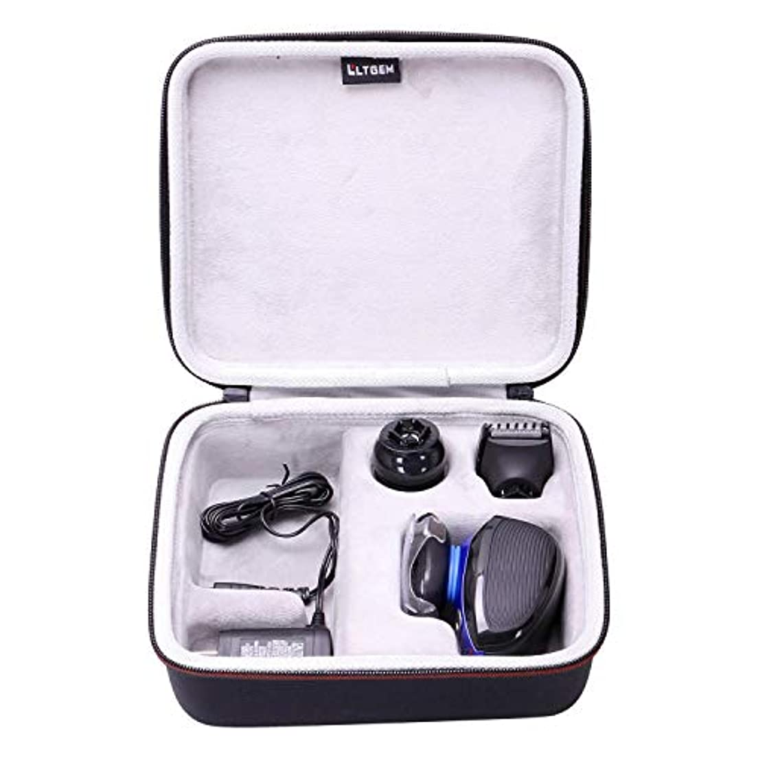 LTGEM Hard Case for Remington XR1400 Verso Wet & Dry Men's Electric Razor Shaver & Trimmer Grooming Kit 141[並行輸入]