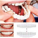 Inverlee 2ピースコンフォートフィット フレックス 美容義歯 入れ歯 歯のカバー コスメティック べニア ホワイト