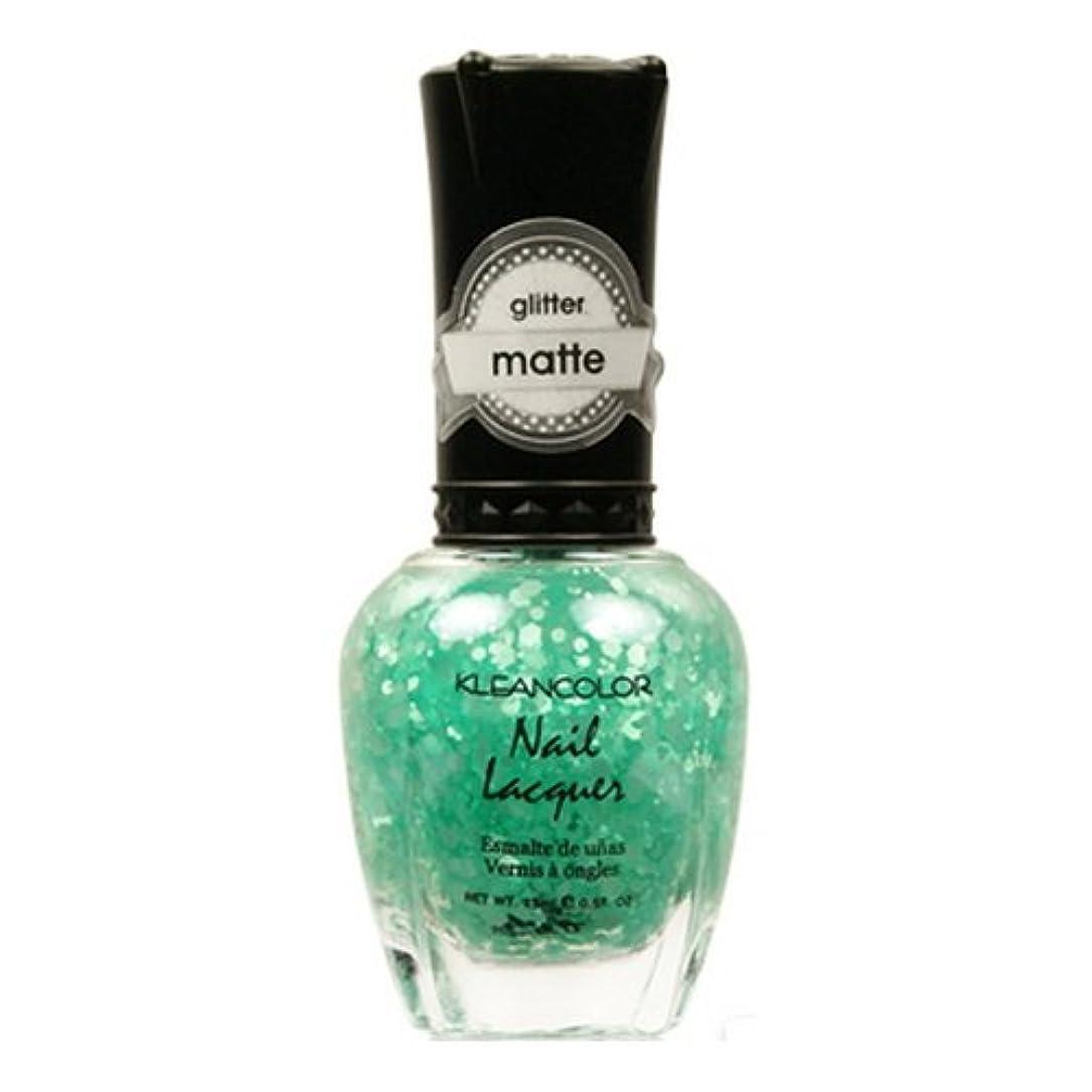 引っ張る日没バイソン(3 Pack) KLEANCOLOR Glitter Matte Nail Lacquer - On-Off Relationship (並行輸入品)