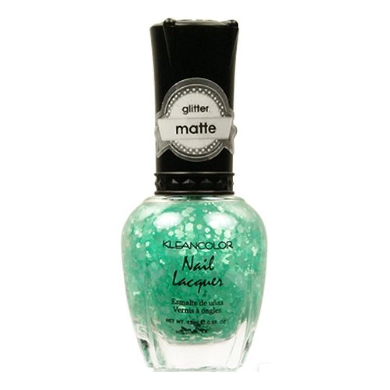 見捨てられたランチョン硫黄(3 Pack) KLEANCOLOR Glitter Matte Nail Lacquer - On-Off Relationship (並行輸入品)