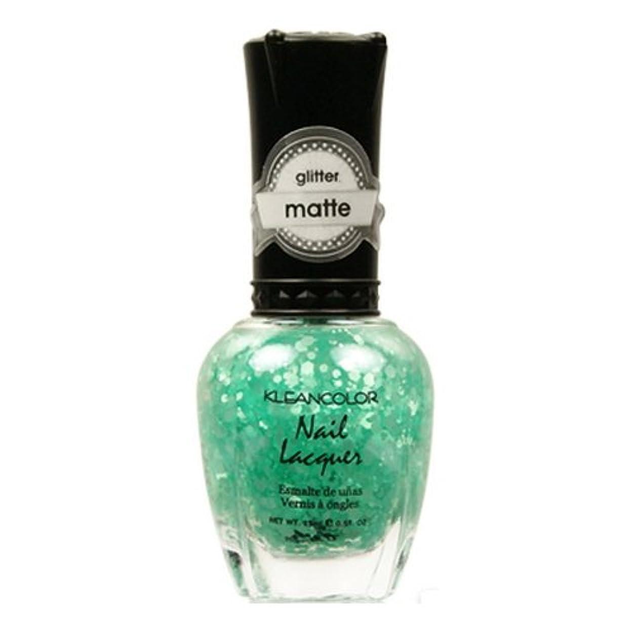 喉が渇いた破裂彼らは(6 Pack) KLEANCOLOR Glitter Matte Nail Lacquer - On-Off Relationship (並行輸入品)