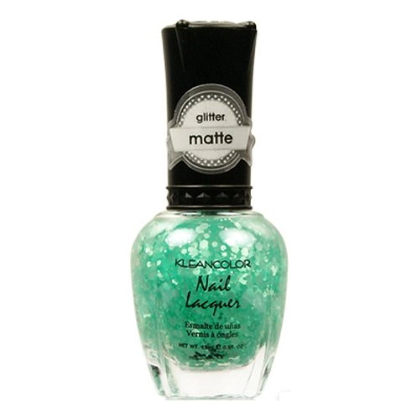 非アクティブに田舎(6 Pack) KLEANCOLOR Glitter Matte Nail Lacquer - On-Off Relationship (並行輸入品)