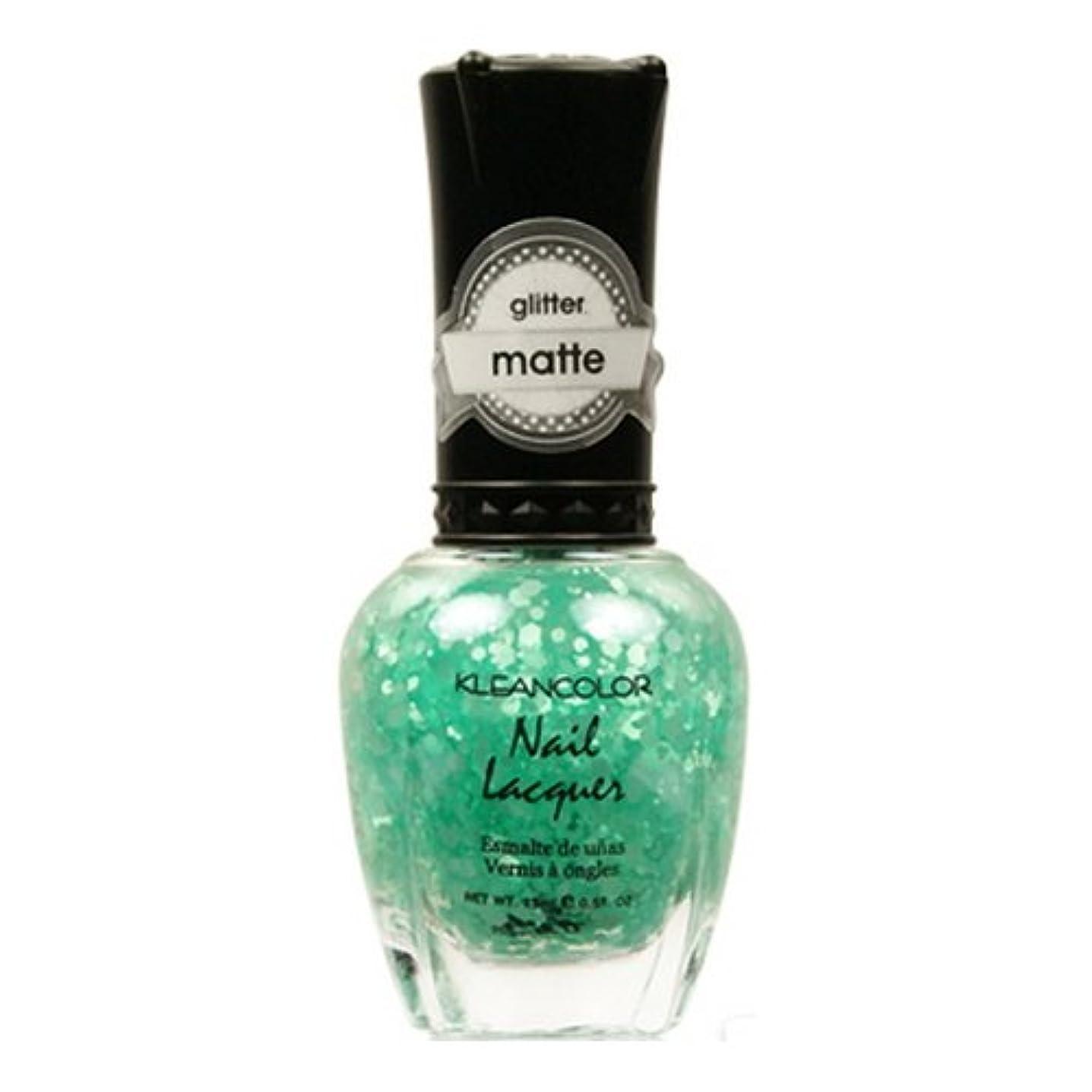 代わって費やす透ける(3 Pack) KLEANCOLOR Glitter Matte Nail Lacquer - On-Off Relationship (並行輸入品)