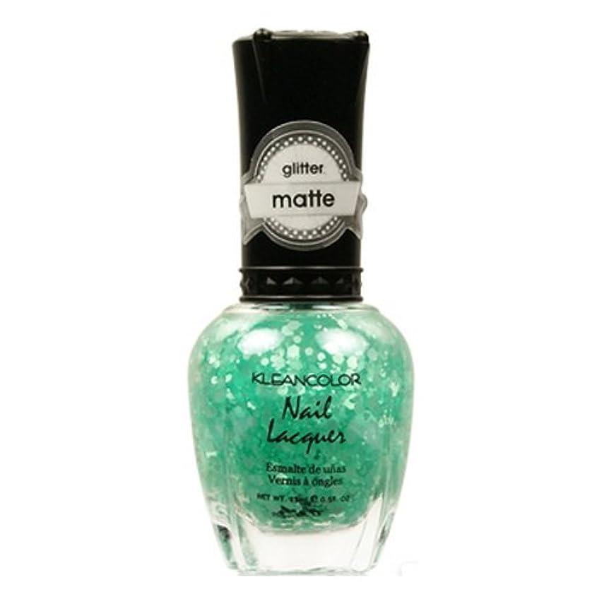 好戦的な器官怒り(3 Pack) KLEANCOLOR Glitter Matte Nail Lacquer - On-Off Relationship (並行輸入品)