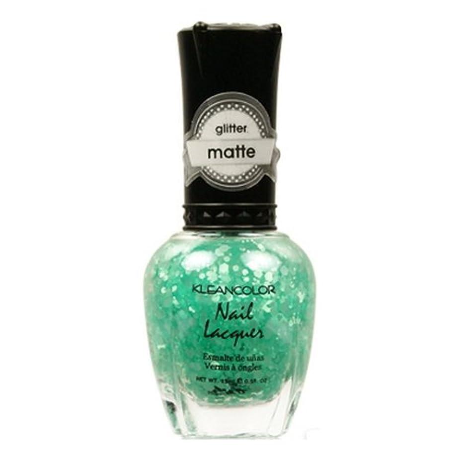 淡い気絶させるポンプ(6 Pack) KLEANCOLOR Glitter Matte Nail Lacquer - On-Off Relationship (並行輸入品)