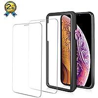 【2018最新版】 iphone xs max ガラスフィルム 2枚 全面 2.5d iphonexs 保護フィルム さらさら iTrunk 強化ガラス 6.5インチ 硬度9H 指紋防止 耐衝撃 ラウンドエッジ 貼付け簡単 ガイド付き
