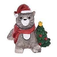 (ライチ) Lychee 動物 クリスマス ミニ置物 アンティーク風 クラシック家具 インテリア 子供玩具 家庭用 オフィス用デコレーション