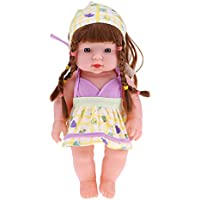 P Prettyia 通常肌色 アメリカ赤ちゃん女の子人形 30cmドール 抱き人形 ベビー ケア トレーニング用ドール 全2色 - #1
