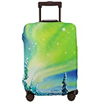 北極の夜 スーツケースカバー 伸縮弾性素材 スーツケース保護カバー ラゲッジカバー 通気性 傷防止 防塵カバー S-XL