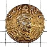 限定 レア ピンバッジ 南アフリカ肖像ネルソンマンデラ大統領 ピンズ フランス