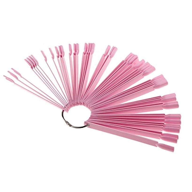 破壊的な行方不明ボタンネイルアート マニキュア ヒント表示 カラー ディスプレイ 練習カード 3色選べ - ピンク