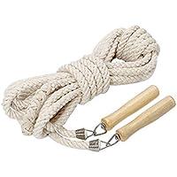 [シェル・フォレスト] 大縄跳び 綿 縄跳び 木製 持ち手 団体 なわとび 競技 スポーツ 綱 ロープ 7メートル