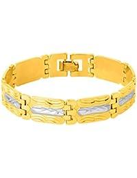 Voylla Dare byデュアルメッキTextured Bracelet for Men
