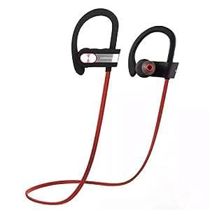 ICONNTECHS IT(JP) Bluetooth 4.1 イヤホン マイク内蔵 高音質 APT-X CVC6.0 ノイズキャンセリング搭載 防水 防汗 ブルートゥース イヤホン ハンズフリー通話 ランニング ジョギング ハイキング サイクリング ジム スポーツ イヤフォン(赤&銀)