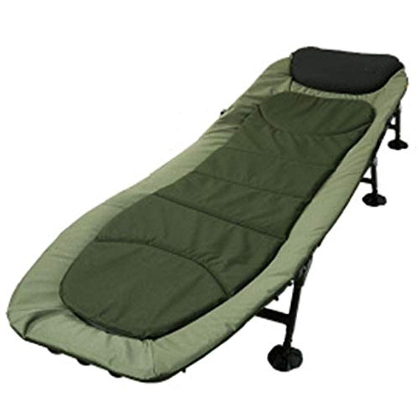 正気アリスマウントバンクZAQXSW ポータブルオフィスランチ休憩シート人昼寝折りたたみベッドライト屋外キャンプベッド
