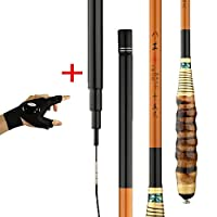 釣り竿スピニングフライサーフィン伸縮釣り竿用塩水淡水伸縮カーボン釣り竿2.7-5.4M釣り道具(手袋を含む),Righthandrod,3.9m