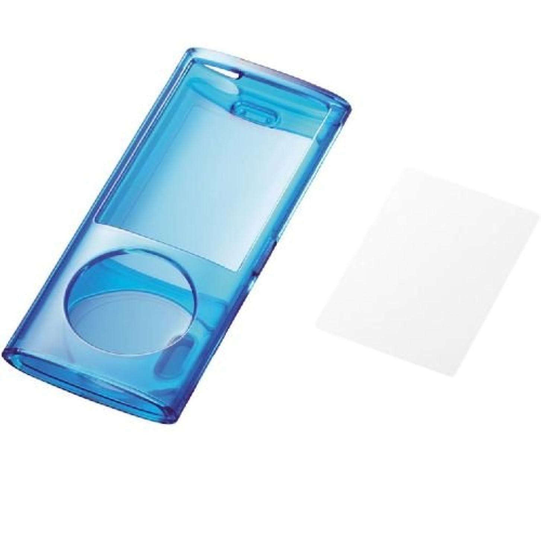 排他的頻繁に欲しいですELECOM 5th iPod nano (2009年発売)液晶保護フィルム付 ハードケース ブルー AVA-N09PCBU
