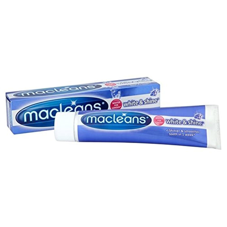 むしゃむしゃ空の皿'歯磨き粉の100ミリリットル x4 - Macleans White'n'shine Toothpaste 100ml (Pack of 4) [並行輸入品]