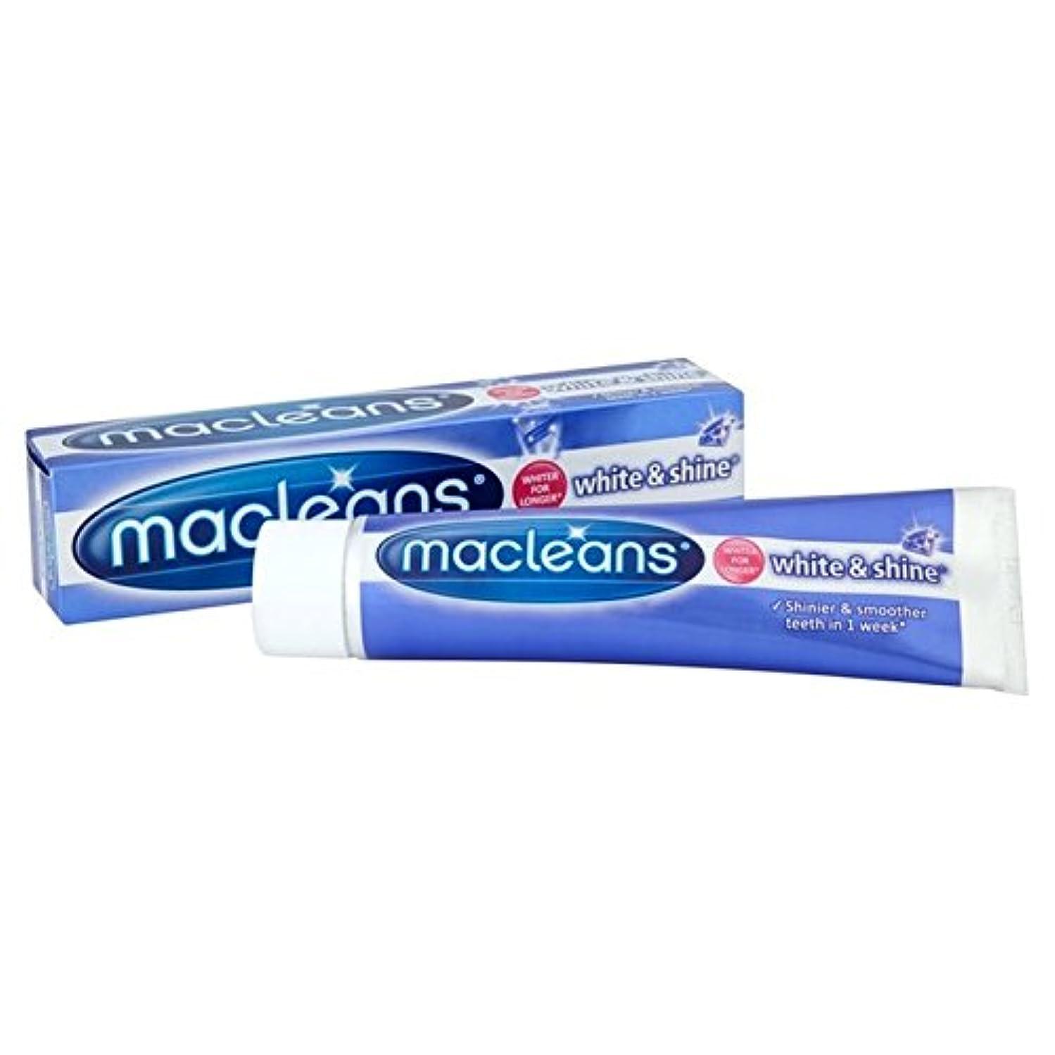トリッキーうそつきキャプションMacleans White'n'shine Toothpaste 100ml (Pack of 6) - ''歯磨き粉の100ミリリットル x6 [並行輸入品]