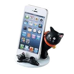 スマートフォン スマホ スタンド ホルダー スマートフォンスタンド 猫日和 スマホスタンド 親子クロ SCZ-1582-BK