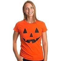 Ann Arbor T-shirt Co. Women's Jack O' Lantern Pumpkin T-Shirt