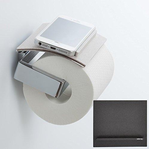 【toilet tray / トイレトレイ】トイレでのスマホや小物の置き場所、解決! (ブラック)