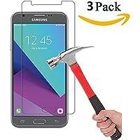 Samsung Galaxy j3Emergeスクリーンプロテクター、KMISS [ 2パック] 9h硬度2.5D強化ガラス傷防止、指紋防止、バブルフリー、生涯交換保証 4330963597