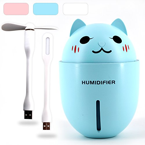Igoshops USB加湿器 卓上 扇風機 静音 小型加湿器...