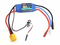 30A RC Brushless Motor Electric Speed Controller ESC BEC with XT60 & 3.5mm bullet plugs