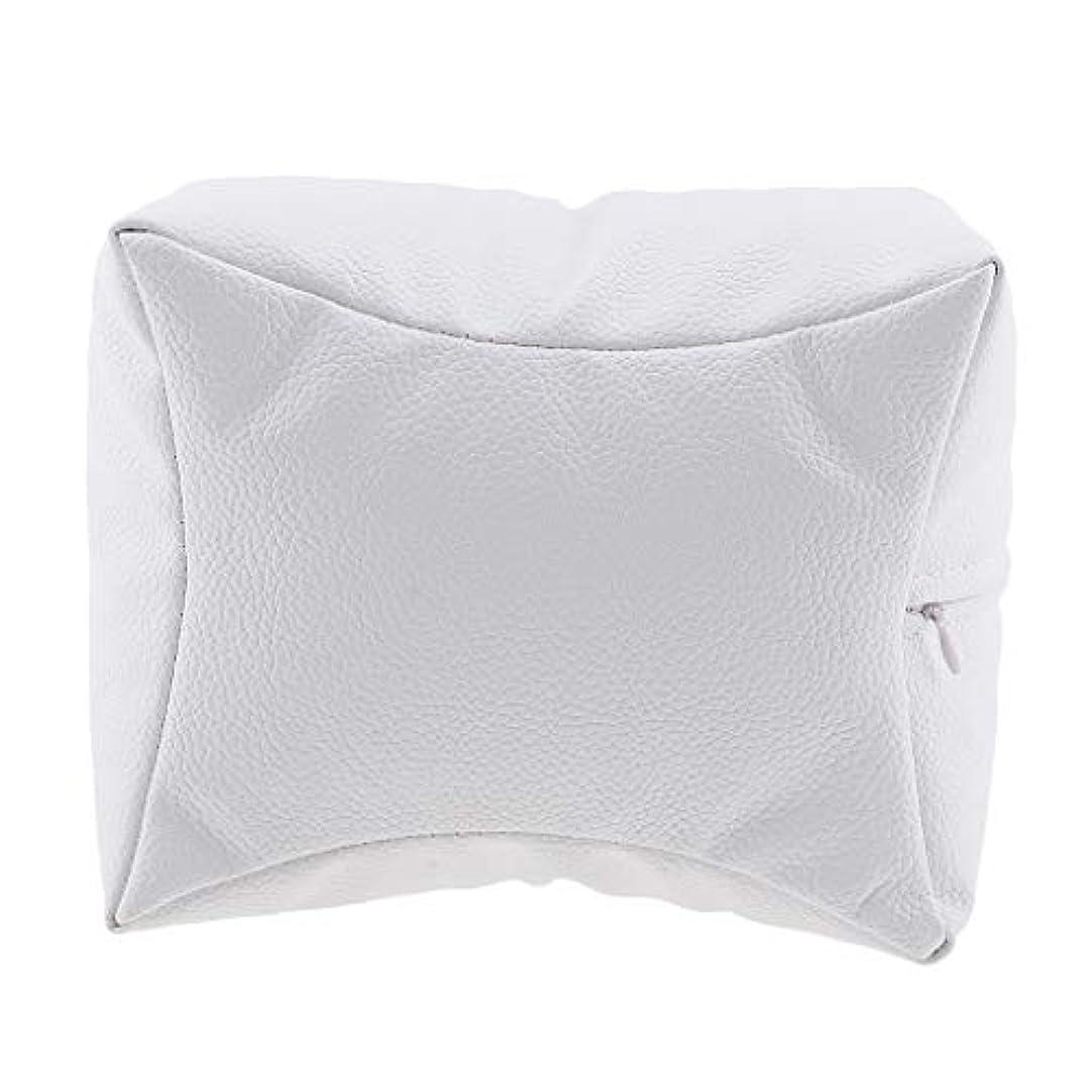 天皇手大声でネイルアート 手枕 ハンドピロー レストピロー ハンドクッション ネイルサロン 4色選べ - 白