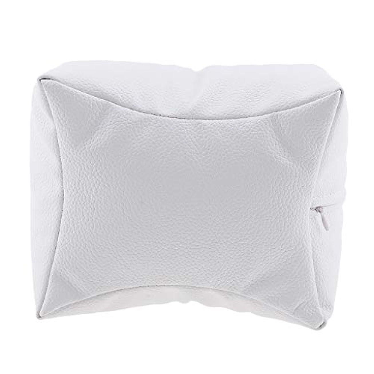 制限日付付き湿ったSharplace ネイルアート 手枕 ハンドピロー レストピロー ハンドクッション ネイルサロン 4色選べ - 白