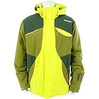 18GOLDWINゴールドウィン メンズ スキーウェア ジャケット「BARO JACKET/ライムグリーン×モスグリーン Mサイズ」G11708P