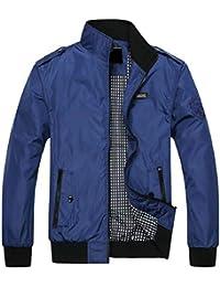Sodossny-JP メンズ秋スタンドネックライト級プラスサイズの野球ボンバージャケットコート