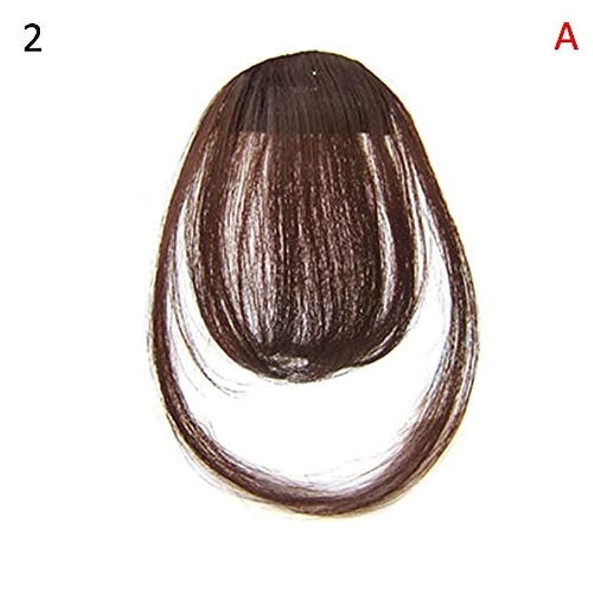ビスケット特異性理解するslQinjiansav女性ウィッグ修理ツールファッションレディース薄いクリップオンエアバンフロントフリンジウィッグヘアエクステンションヘアピース