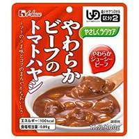 ハウス食品 やさしくラクケア やわらかビーフのトマトハヤシ 100g×40個入×(2ケース)